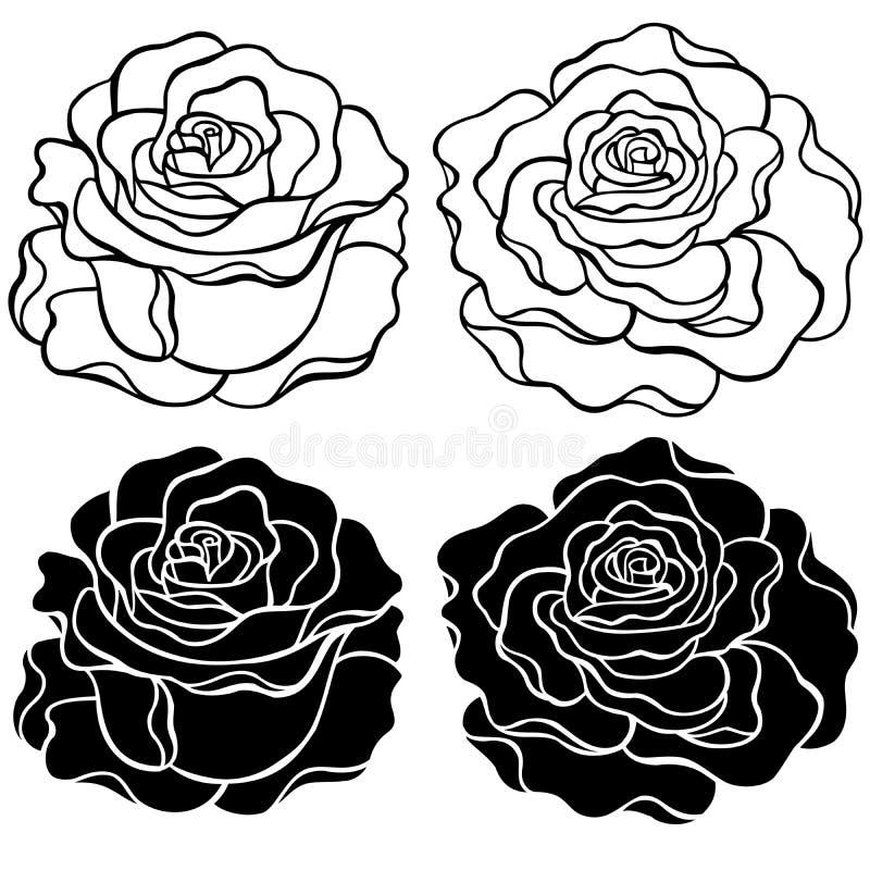 róża ilustracyjny wektor ilustracja wektor