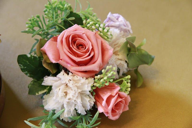 Róża stół fotografia stock