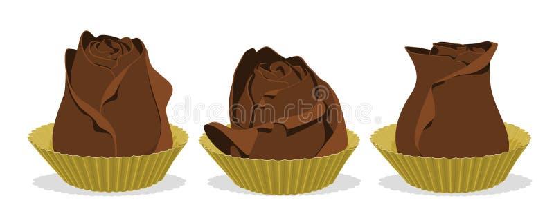 Różana czekolada ilustracji