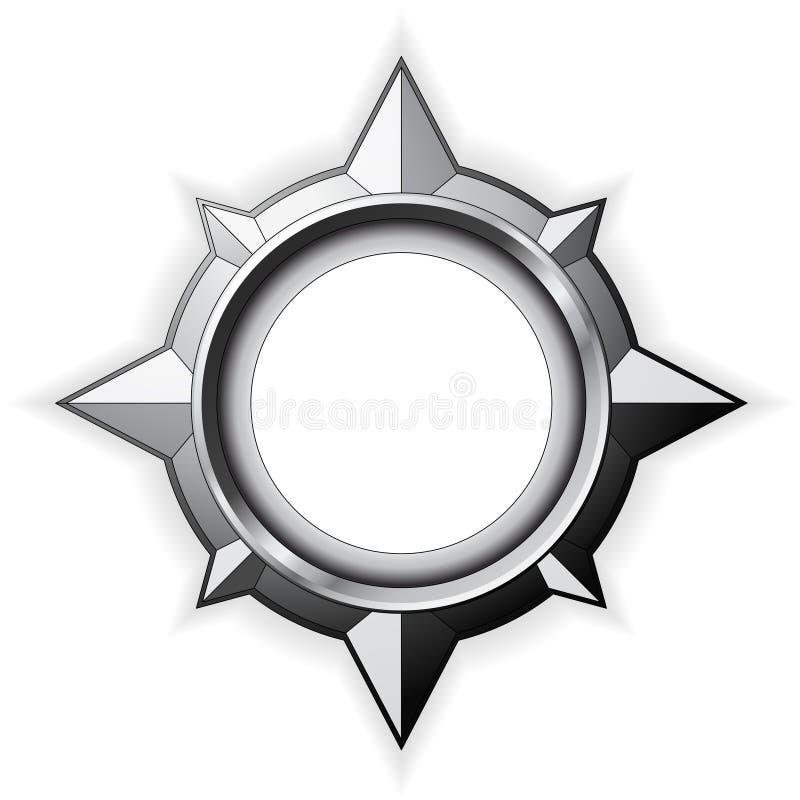różana kompas stal ilustracji