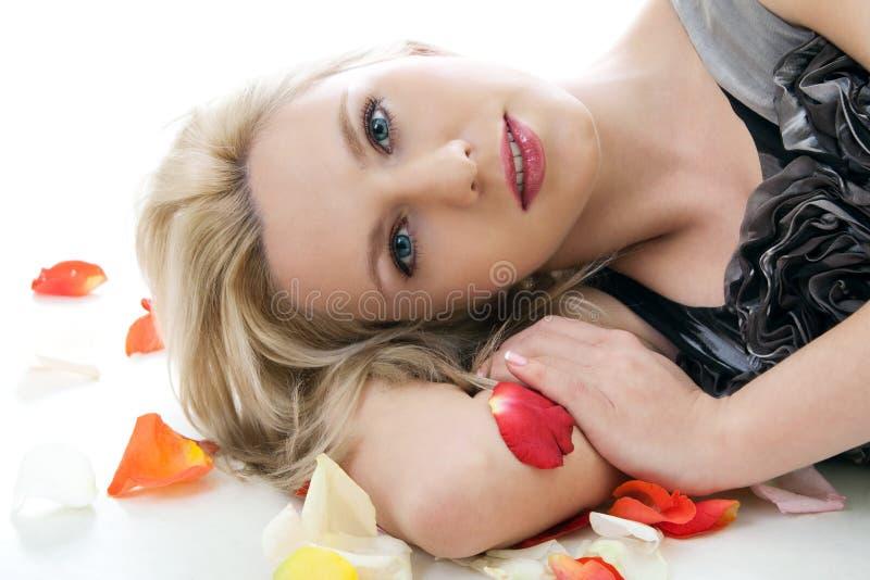 różana płatek kobieta zdjęcie stock