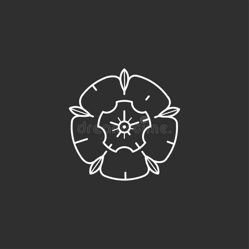 Różana wektorowa ikona royalty ilustracja