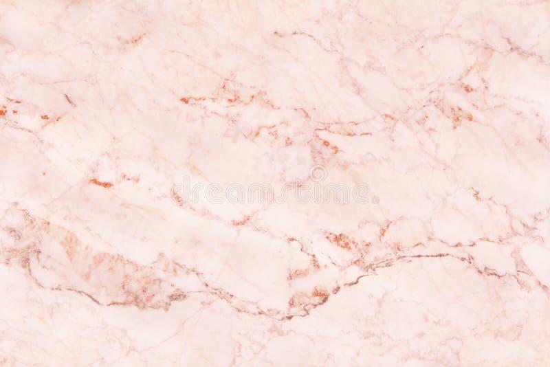 Różana złoto marmuru ściany tekstura dla tła i projekta sztuki pracy, bezszwowy wzór płytka kamień z jaskrawym luksusem zdjęcia royalty free