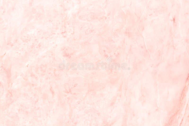 Różana złoto marmuru ściany tekstura dla tła i projekta sztuki pracy, bezszwowy wzór płytka kamień z jaskrawym luksusem fotografia stock