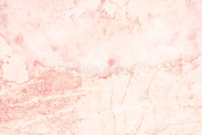 Różana złoto marmuru ściany tekstura dla tła i projekta sztuki pracy, bezszwowy wzór płytka kamień z jaskrawym luksusem obraz stock