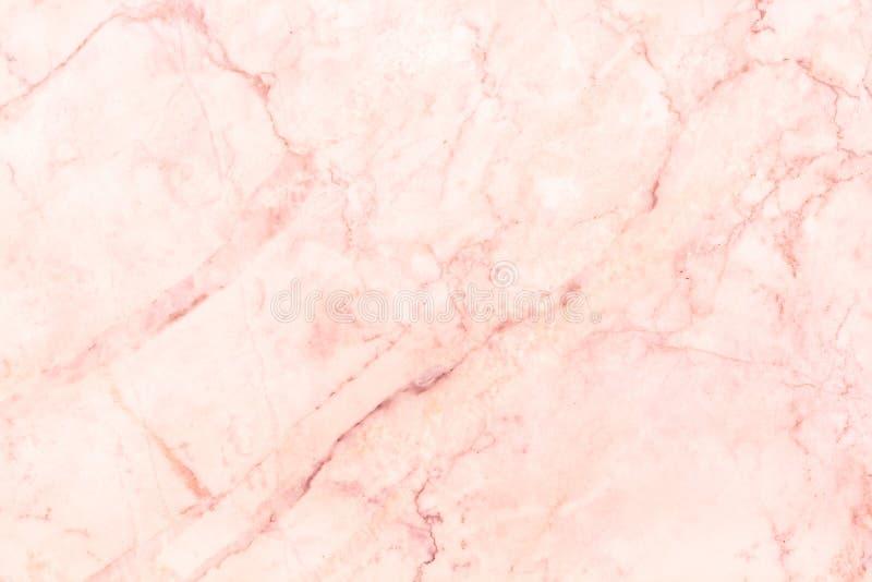 Różana złoto marmuru tekstura w naturalnym wzorze z wysoka rozdzielczość dla tła i projekta sztuki pracy, płytki dryluje podłoga obrazy royalty free