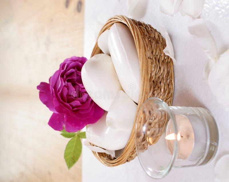 różani świeczek mydła zdjęcia stock