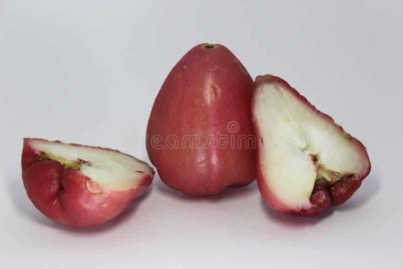 Różani jabłka fotografia stock