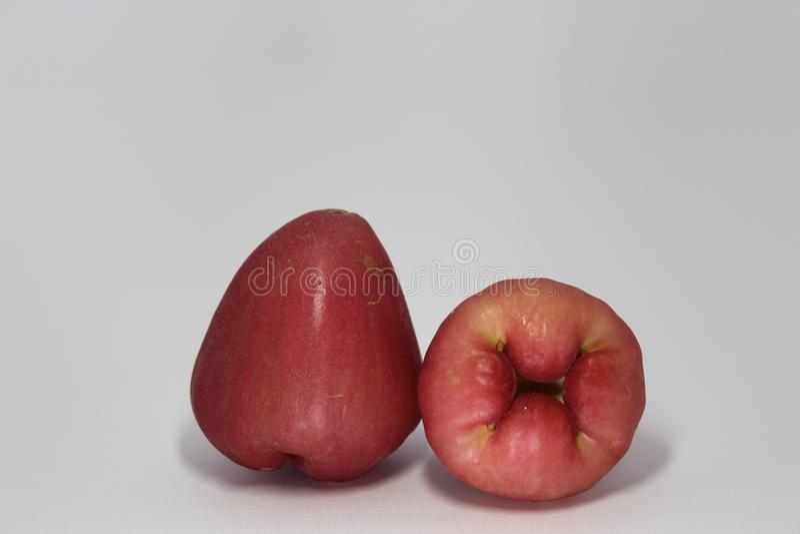 Różani jabłka obrazy stock