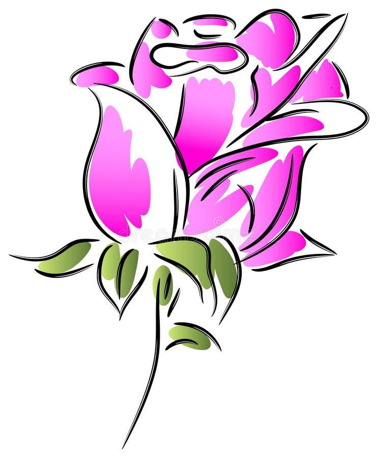Różany abstrakt ilustracja wektor