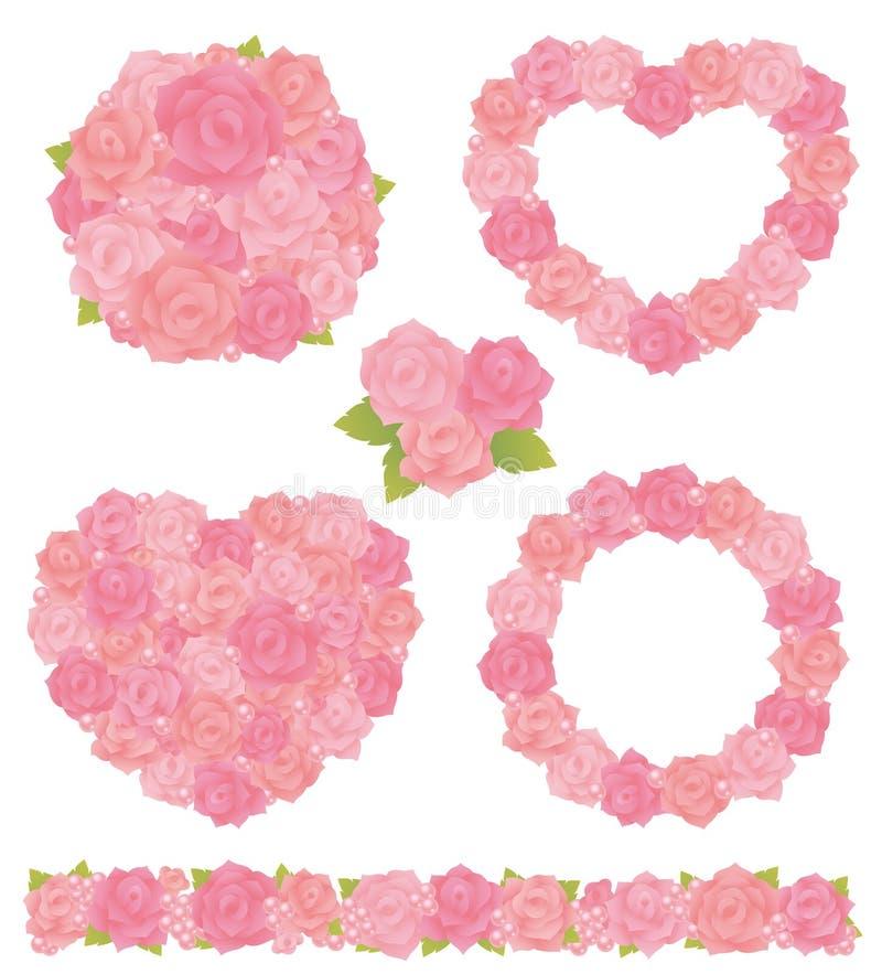 Różany bukiet ilustracji
