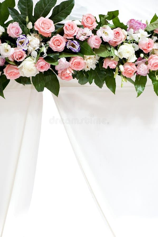 różany kwiatu ślub fotografia stock