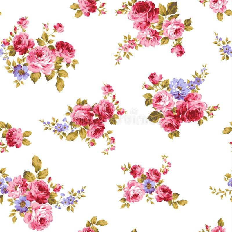 Różany kwiatu wzór, ilustracji