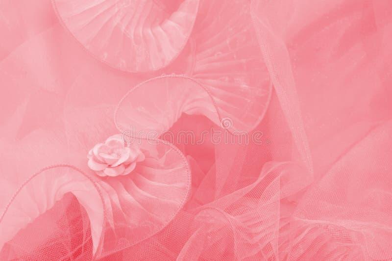różany menchia tiul obrazy stock