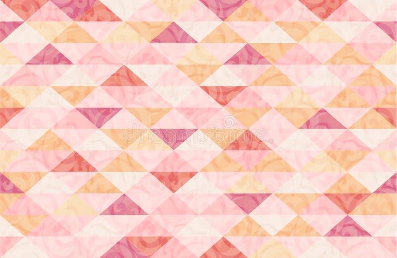 Różany Quatz marmuru trójboka wzór ilustracji