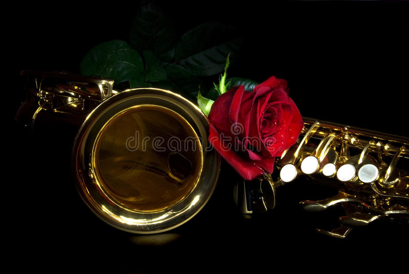 różany saksofon zdjęcie royalty free