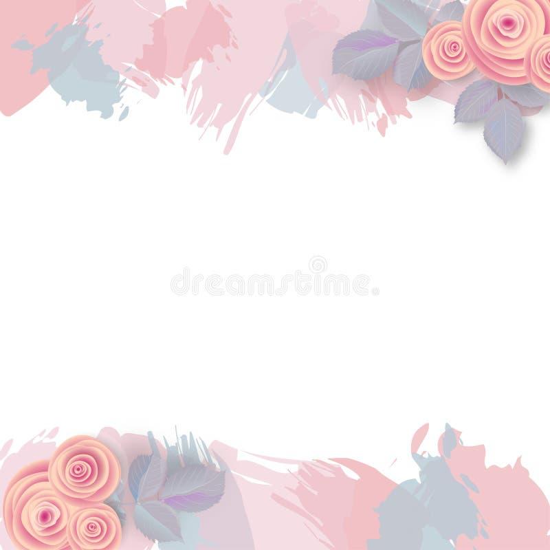 Różany tło z różowymi uderzeniami ilustracji