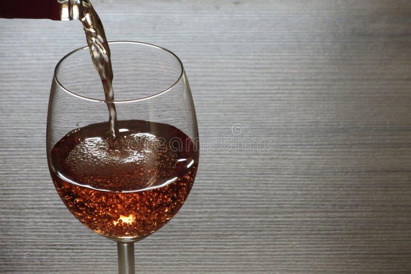 Różany wino obrazy royalty free
