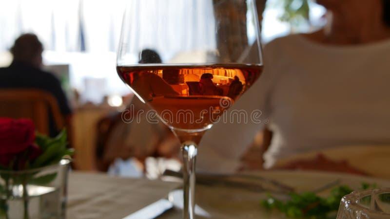 Różany wino kolory południe w Ticino obraz royalty free