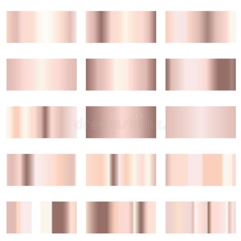 Różany złocisty gradient ilustracji