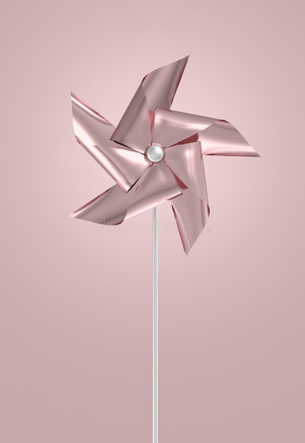 Różany Złocisty Pinwheel ilustracja wektor