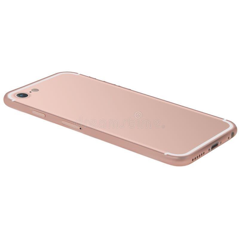 Różany Złocisty telefon komórkowy fotografia stock