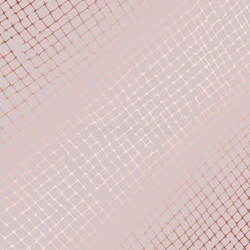 Różany złoto griddle Abstrakcjonistyczny wektoru wzór ilustracja wektor