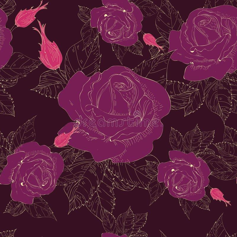 Róże royalty ilustracja