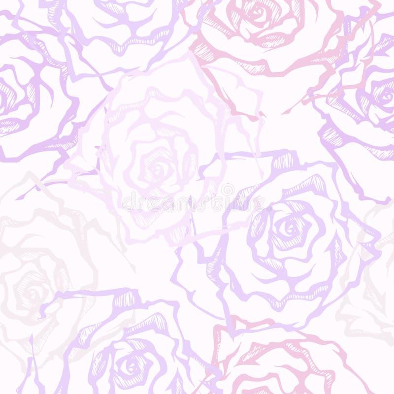 róże dekoracyjne wektor bezszwowy wzoru ilustracja wektor