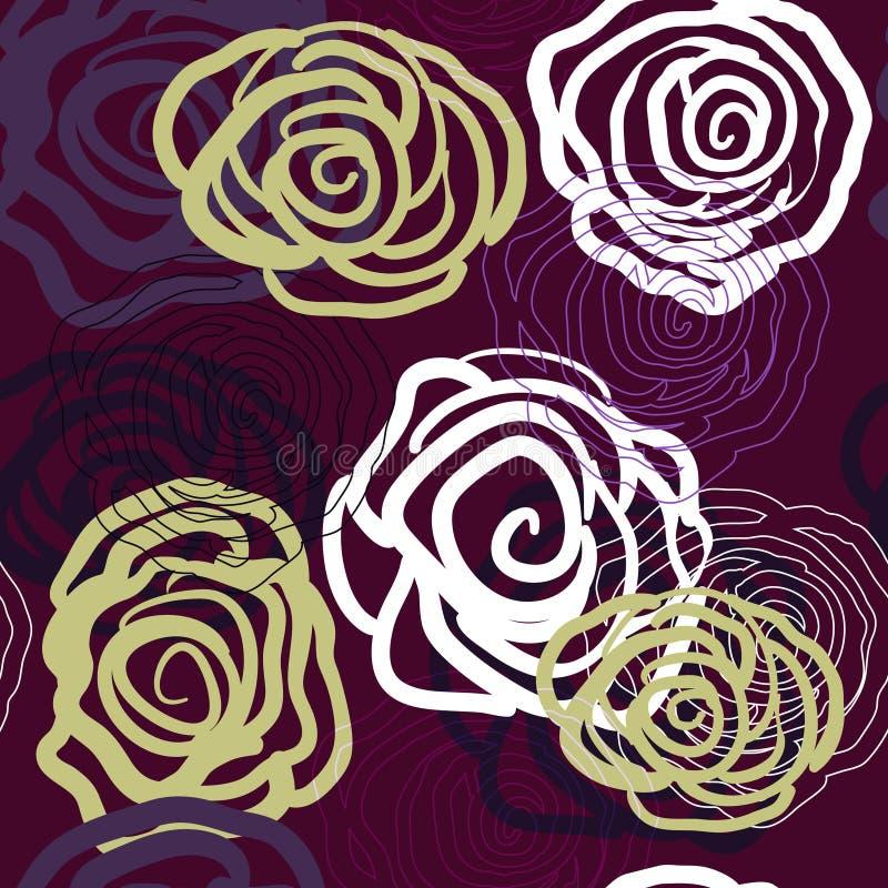 róże fiołkowe royalty ilustracja