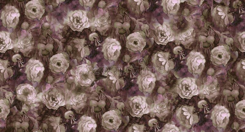 Róże i biodra royalty ilustracja