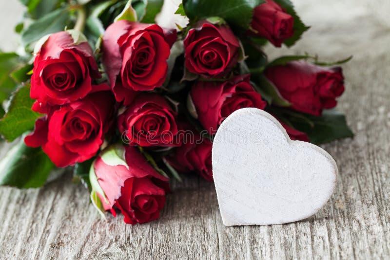 Róże i serce zdjęcie royalty free