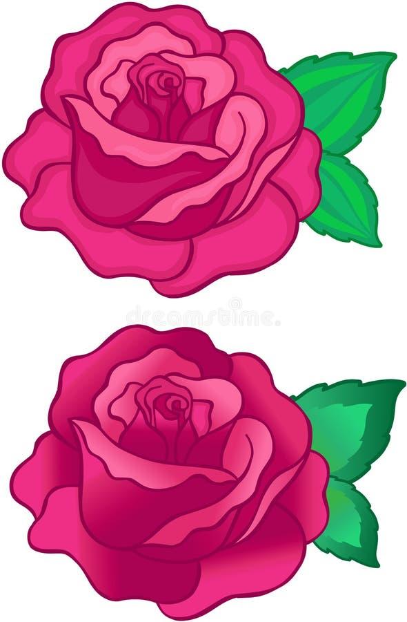 róże ilustracyjne wektorowe ilustracja wektor