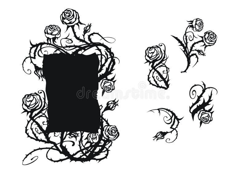 róże ornament ilustracji
