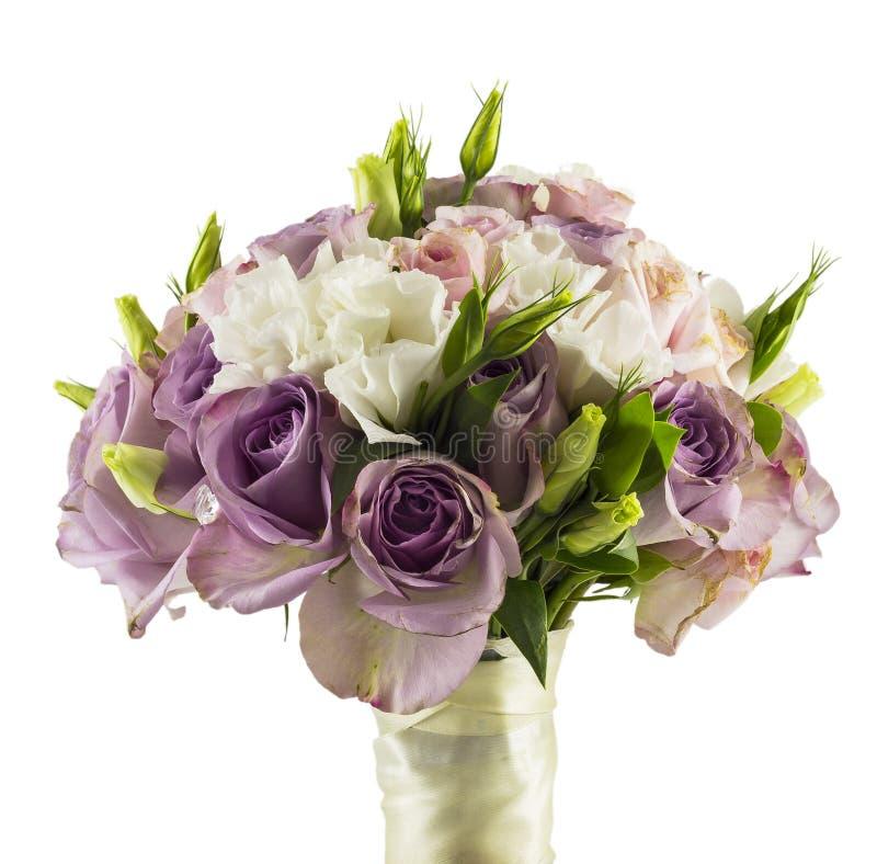 Róże Poślubia Bukiet Zdjęcia Stock