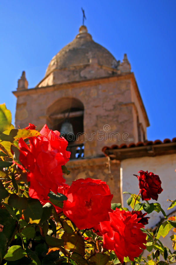 Róże przy misją Carmel zdjęcia stock