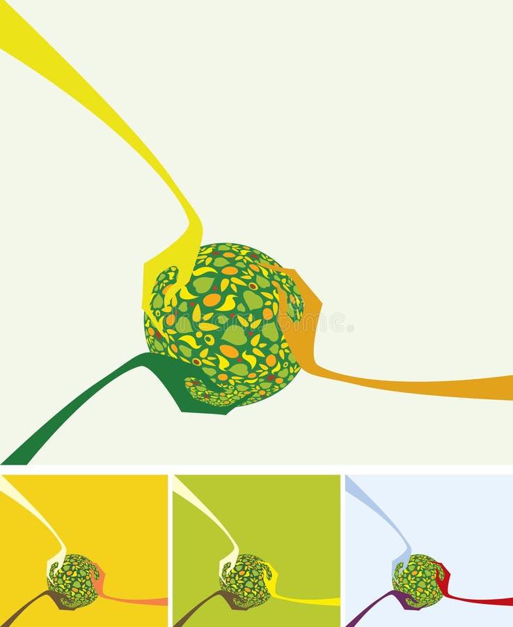 Różna kolor skóry istota ludzka wręcza trzymać zieloną ziemię ilustracja wektor