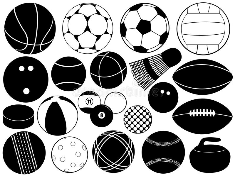 różna piłki gra ilustracji