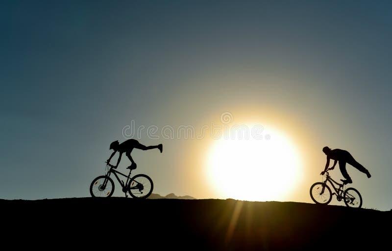 Różna stylowa rower jazda zdjęcie stock