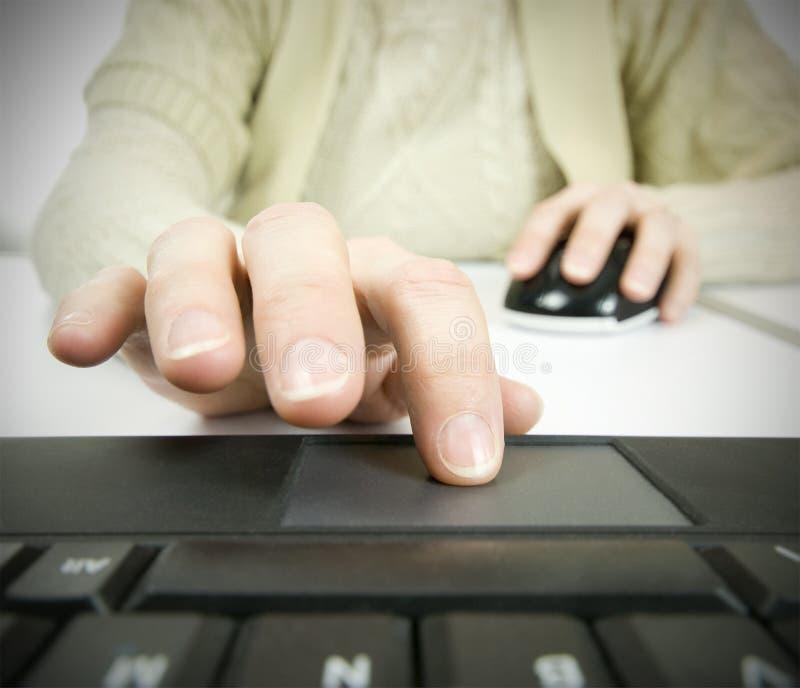 Różna technologia komputerowa mysz i dotyka ochraniacz, zdjęcie stock
