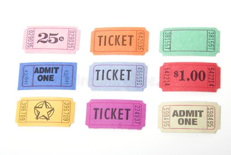różne bilety fotografia stock