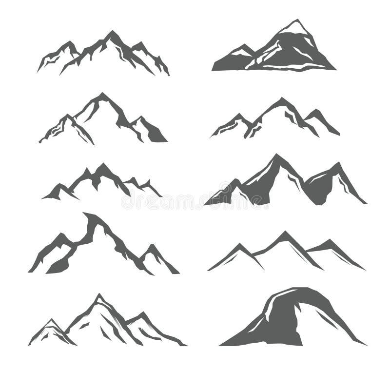 Różne góry royalty ilustracja