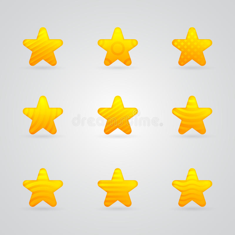 Download Różne Kolor żółty Gwiazdy Ikony Ustawiać Ilustracji - Ilustracja złożonej z insygnia, dekoracyjny: 28950770