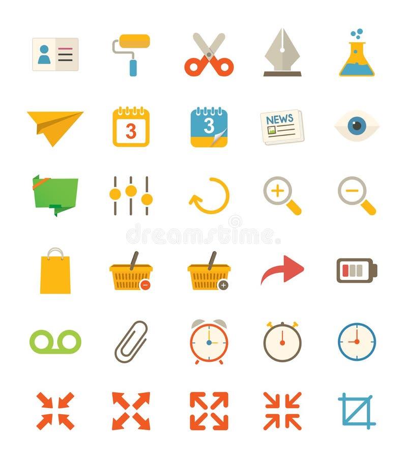 Różne Płaskie ikony royalty ilustracja