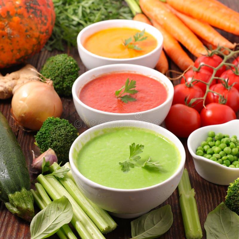 Różne rodzaje zupy roślinnej zdjęcie royalty free