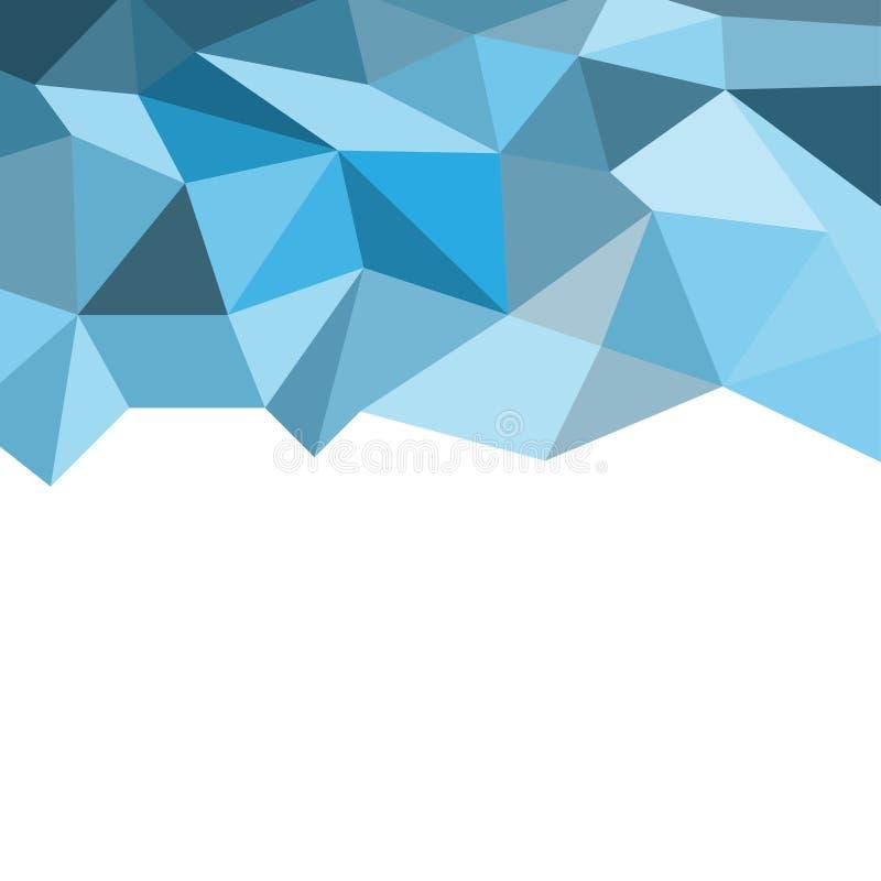Różni cienie błękitny wieloboka tło royalty ilustracja