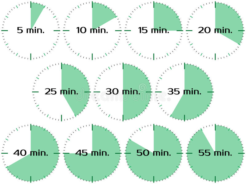 Różni czasów zegary ilustracja wektor