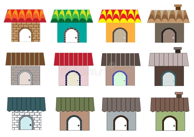 Różni domów style royalty ilustracja