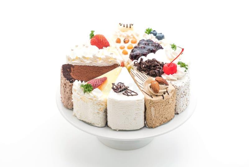 Różni kawałki tort obrazy stock