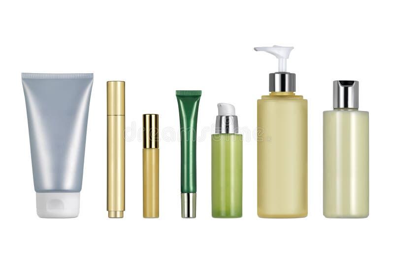 Różni kosmetyczni zbiorniki jakby ilustracja wektor
